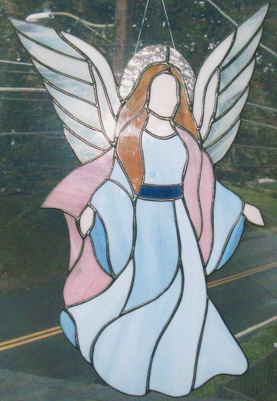 Stained Glass Guardian Angel Star Lite Stained Glass
