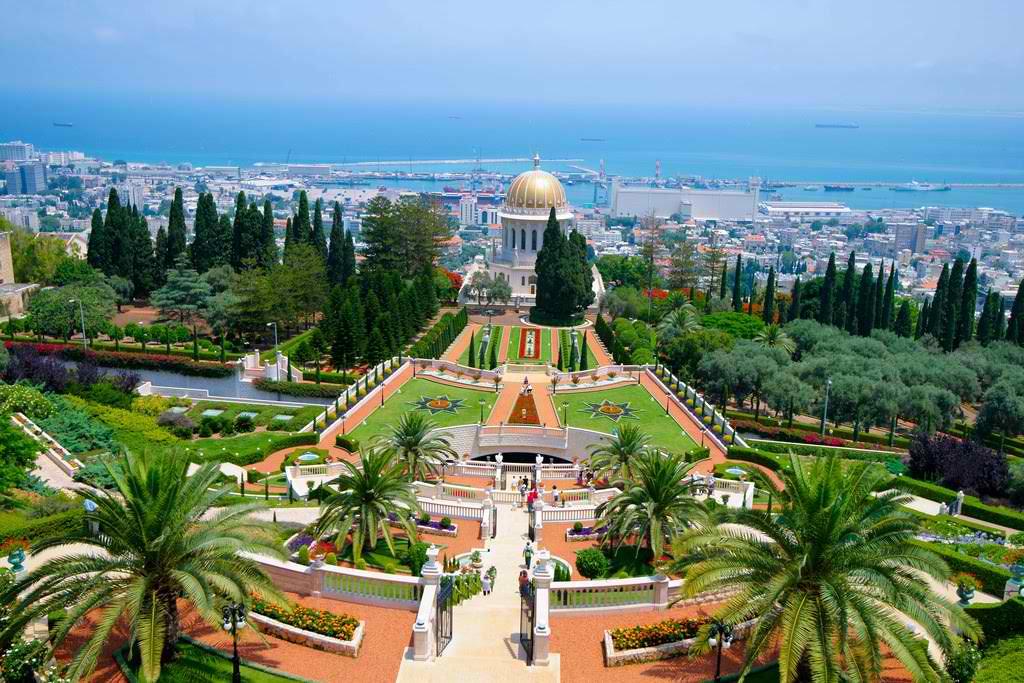 The Haifa Bahai Gardens in Israel