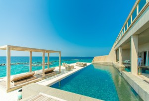 House on the beach with a pool