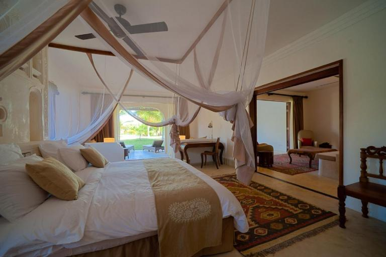 A room at Swahili Beach Resort.
