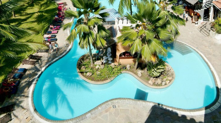 Bamburi Beach Hotel free-form swimming pool