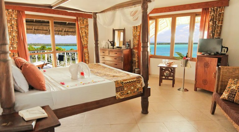 A room at Temple Point Resort.