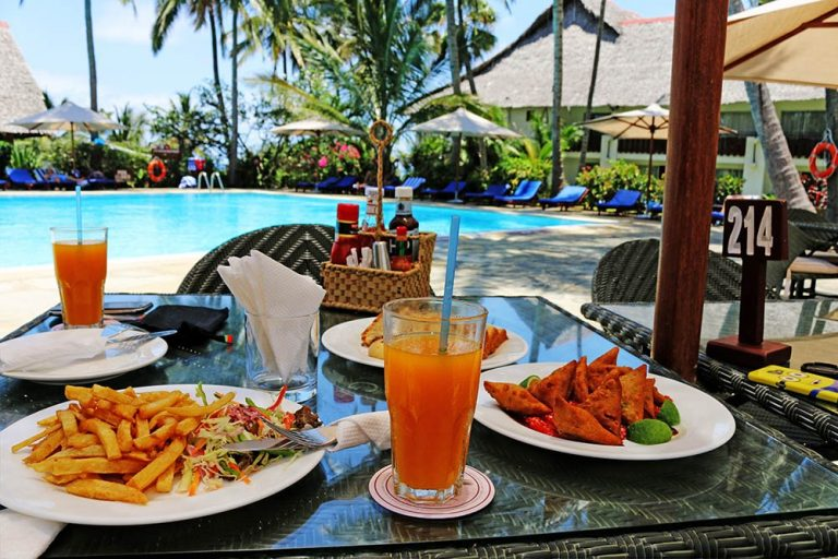 A meal at Voyager Beach Resort