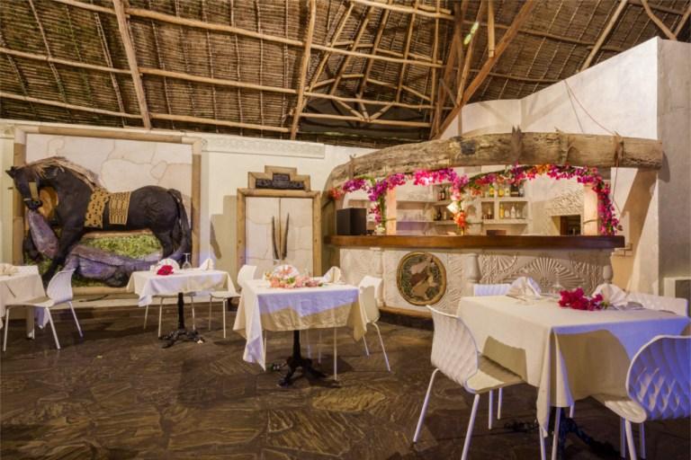 Mapango Restaurant at Lily Palm Beach Resort.