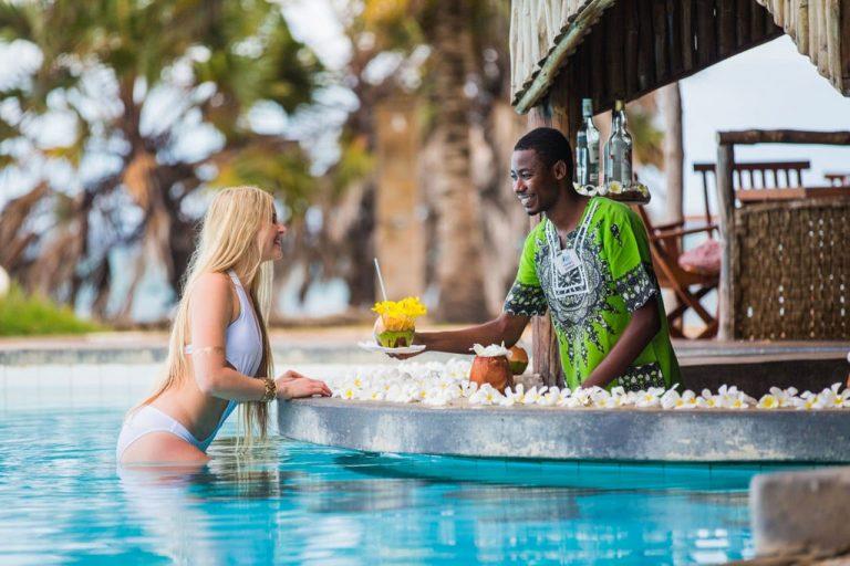 Swim-up Tanga Bar at The Reef Hotel Mombasa