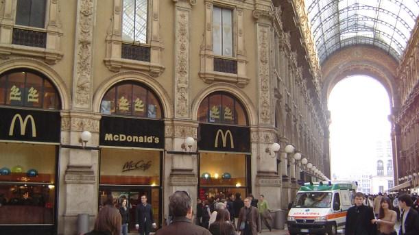McDonalds : Adieu Milan