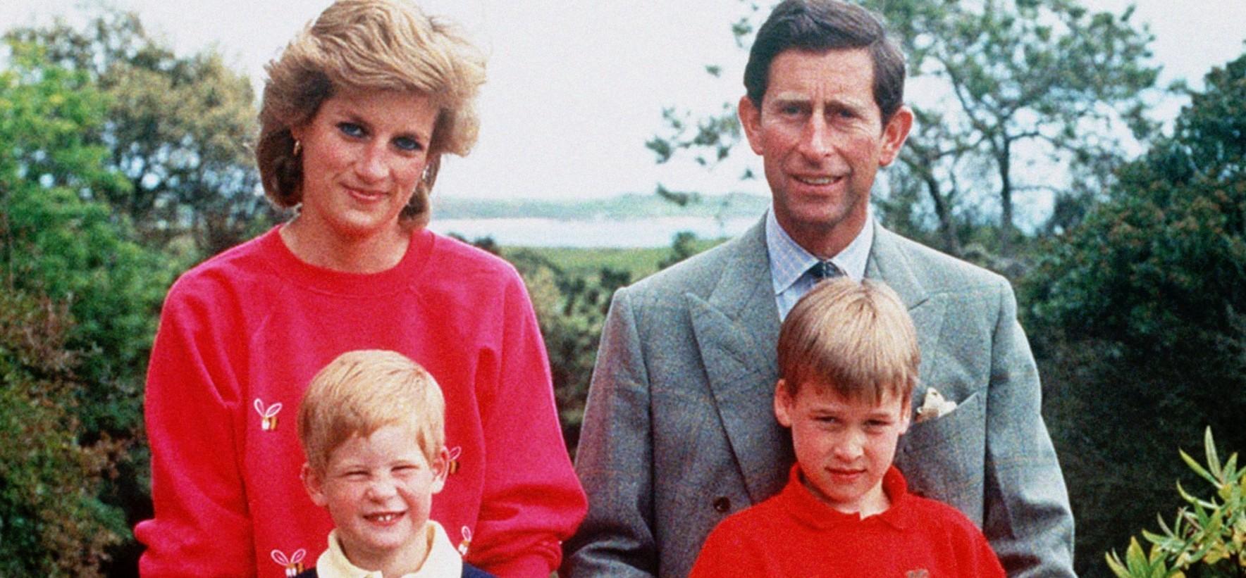 Princesse Diana, prince Charles, Harry et William