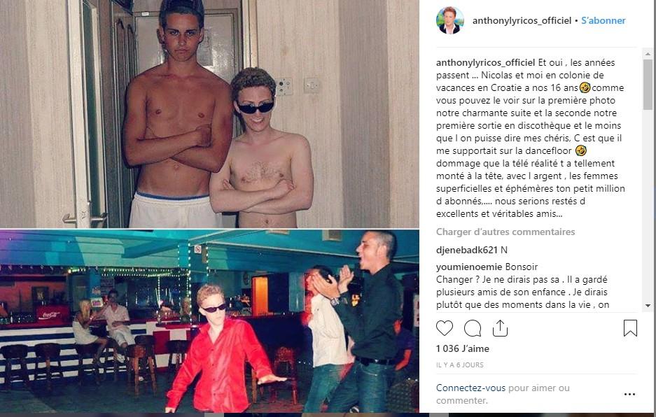Nikola Lozina remis à sa place par un ancien candidat de télé-réalité qui dévoile une photo dossier