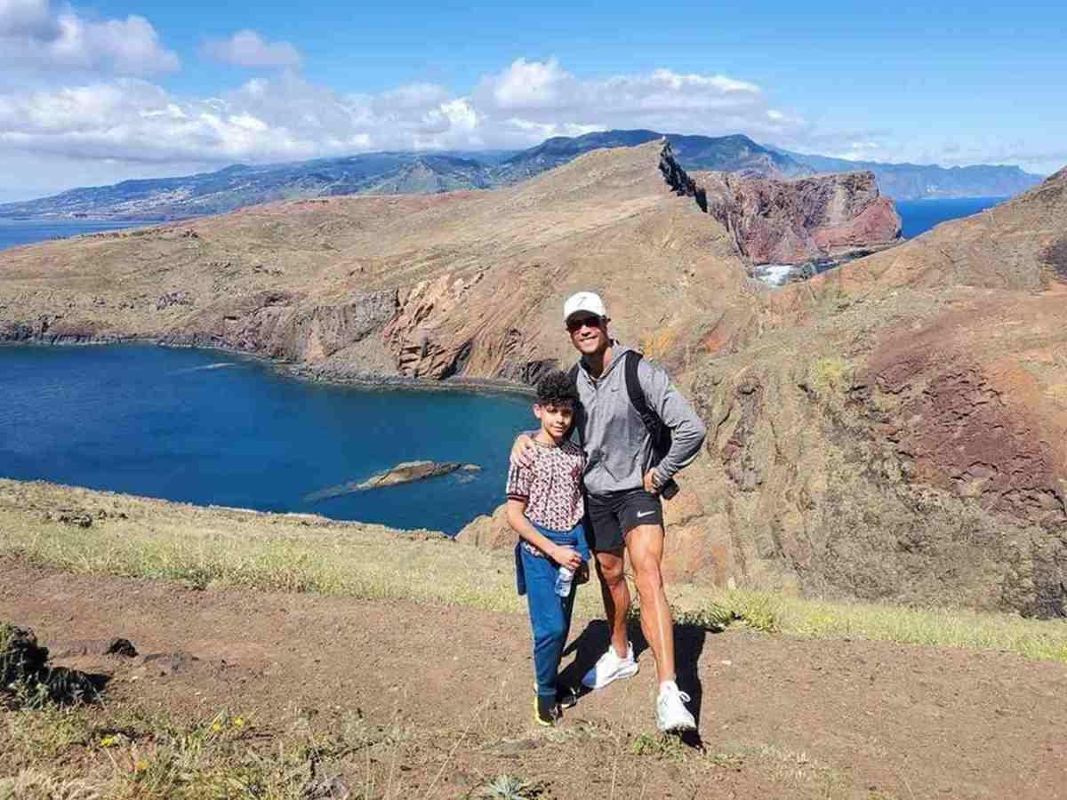 Cristiano Ronaldo et son fils à Madère