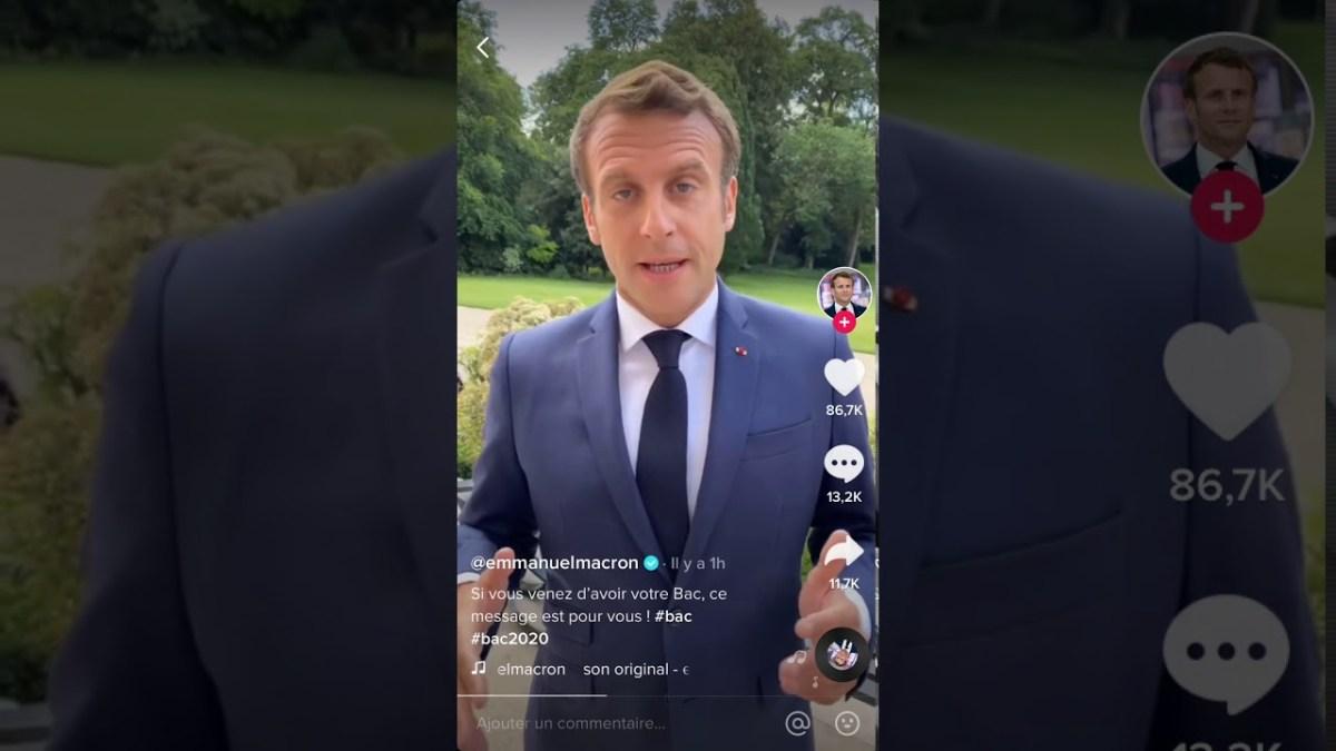 Emmanuel Macron s'adresse aux bacheliers sur Tik Tok !