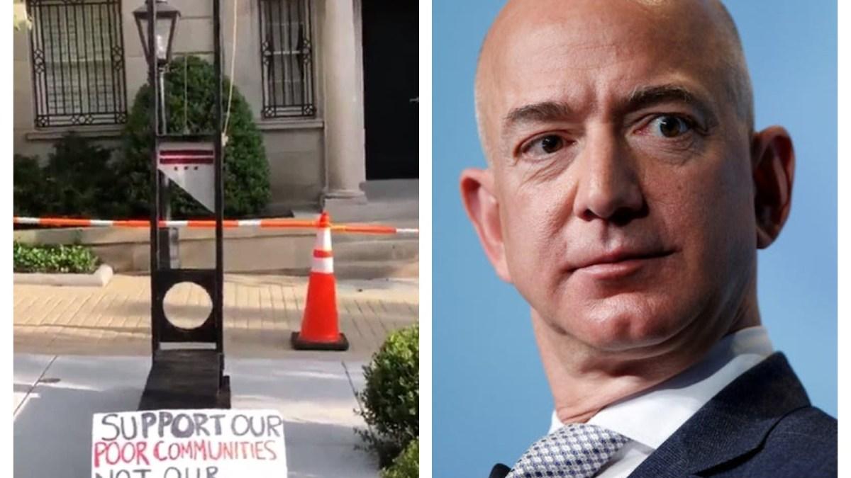 Jeff Bezos : une guillotine installée devant sa maison par des employés !