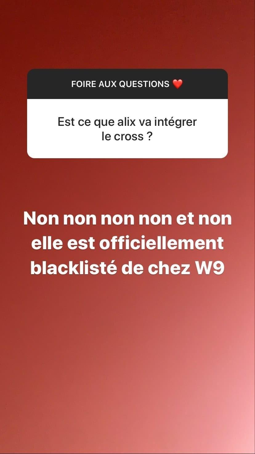 Alix blacklistée de W9 ? Elle sort du silence !