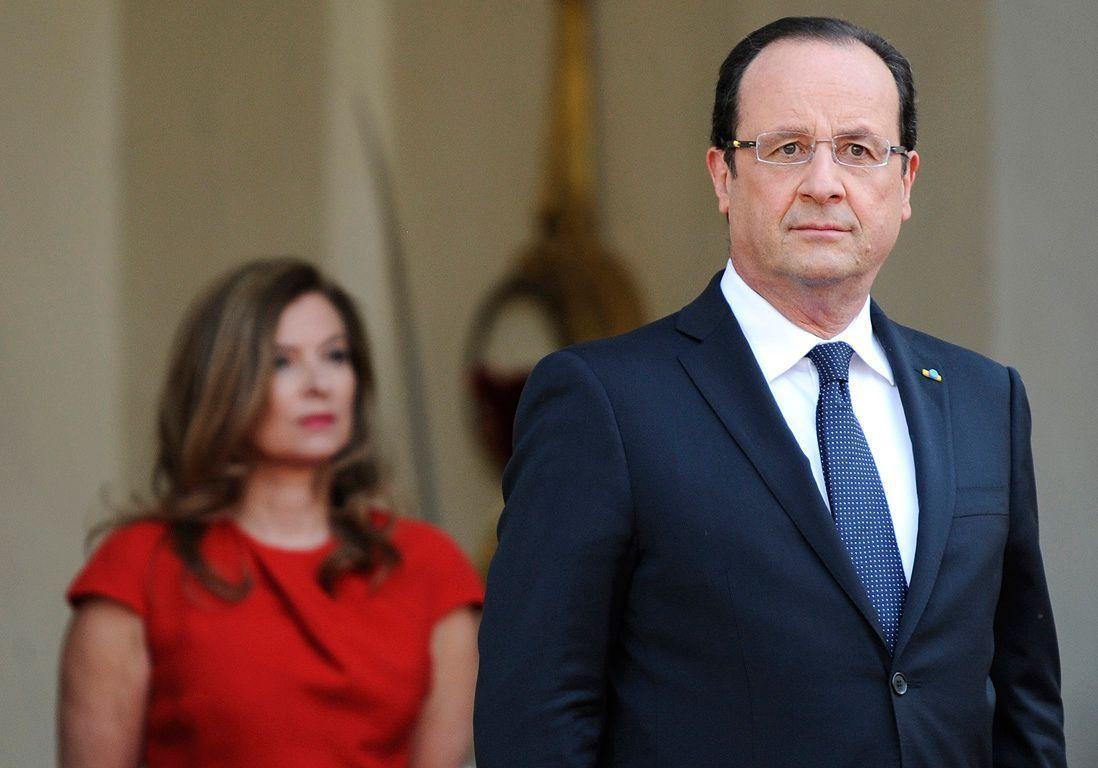 Valérie Trierweiler quand elle était encore avec François Hollande @AFP