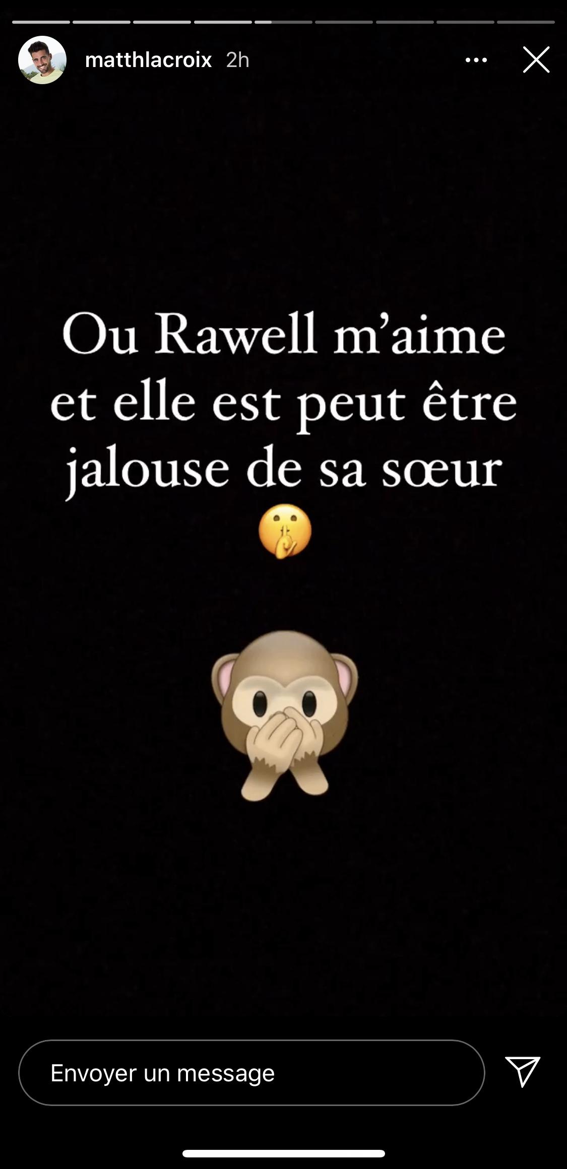 Matthieu Lacroix, en guerre avec Rawell? il balance sur Instagram