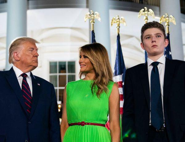 Melania et Donald Trump : leur fils Barron également positif au coronavirus !