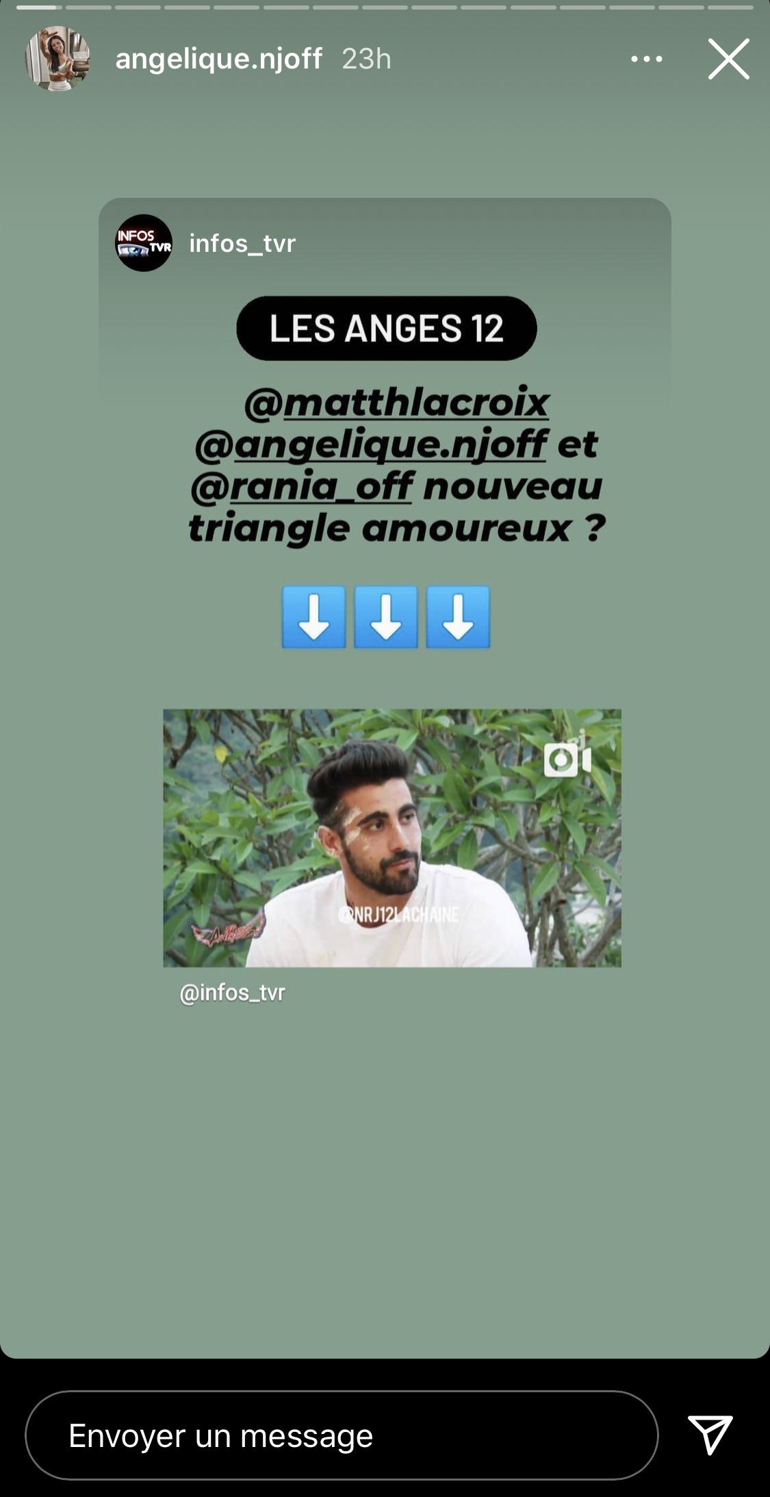 Rania (Les Anges 12) clashe Angélique suite à son rapprochement avec Matthieu Lacroix