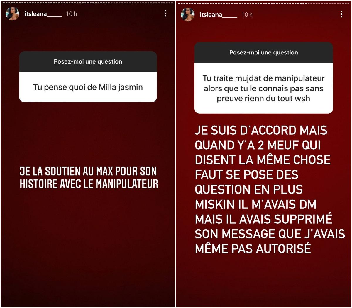 """Léana balance sur Mujdat Saglam : """"Il m'avait DM avant de supprimer son message"""""""