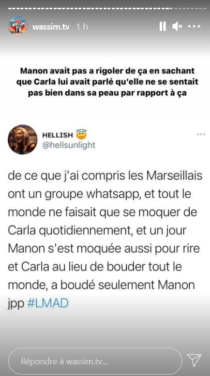 Carla Moreau vs Manon Marsault (Les Marseillais) : Nouvelles révélations sur leur brouille