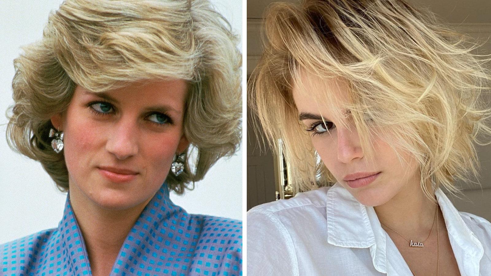 Princesse Diana et Kaia Gerber
