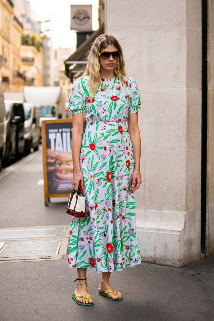 Veronika Heilbrunner en robe longue