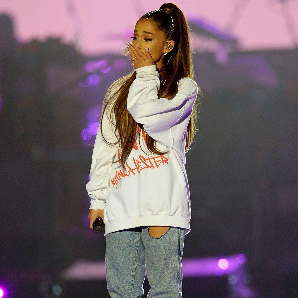 Ariana Grande sur scène au moment de l'attentat