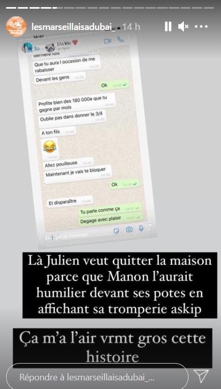 Les Marseillais : Julien Tanti et Manon Marsault au coeur d'une terrible rumeur d'infidélité
