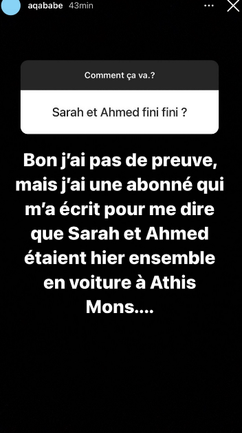 Sarah Fraisou et Ahmed de nouveau en couple ? Aqababe fait des révélations