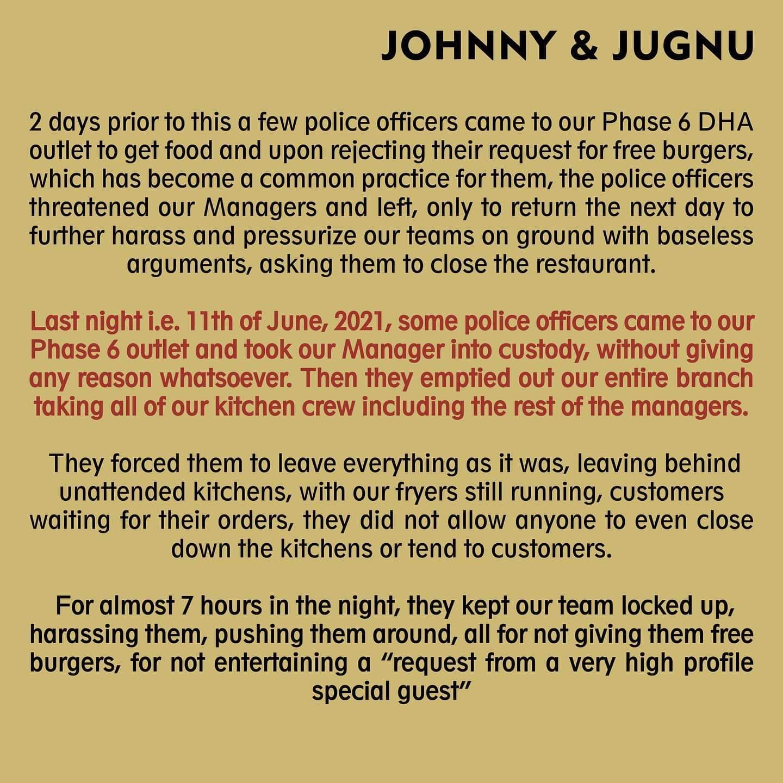 Communiqué Johnny & Jugnu
