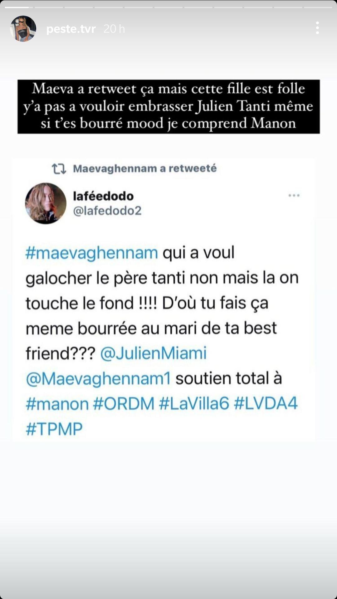 Maeva Ghennam a-t-elle tenté d'embrasser Julien Tanti ? En froid avec Manon Marsault elle s'explique