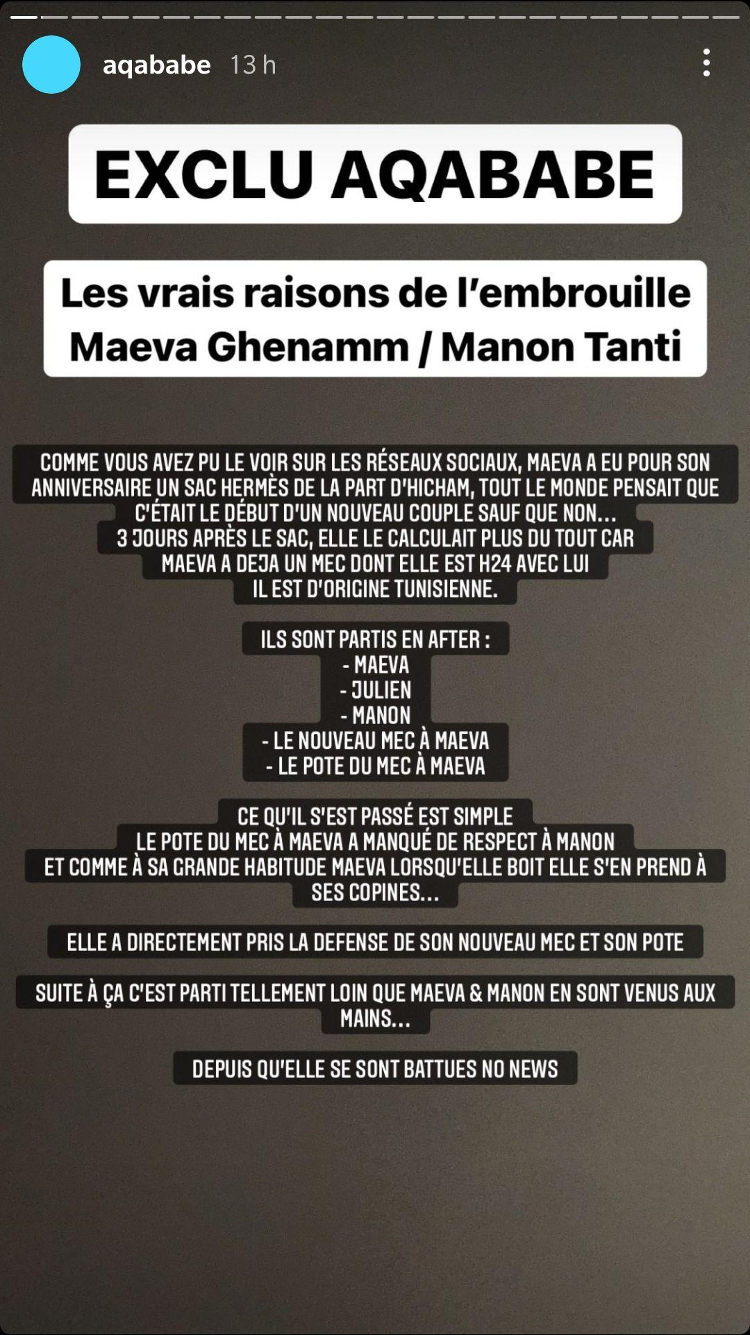 Maeva Ghennam et Manon Marsault trahies par Milla Jasmine ? La femme de Julien Tanti balance !