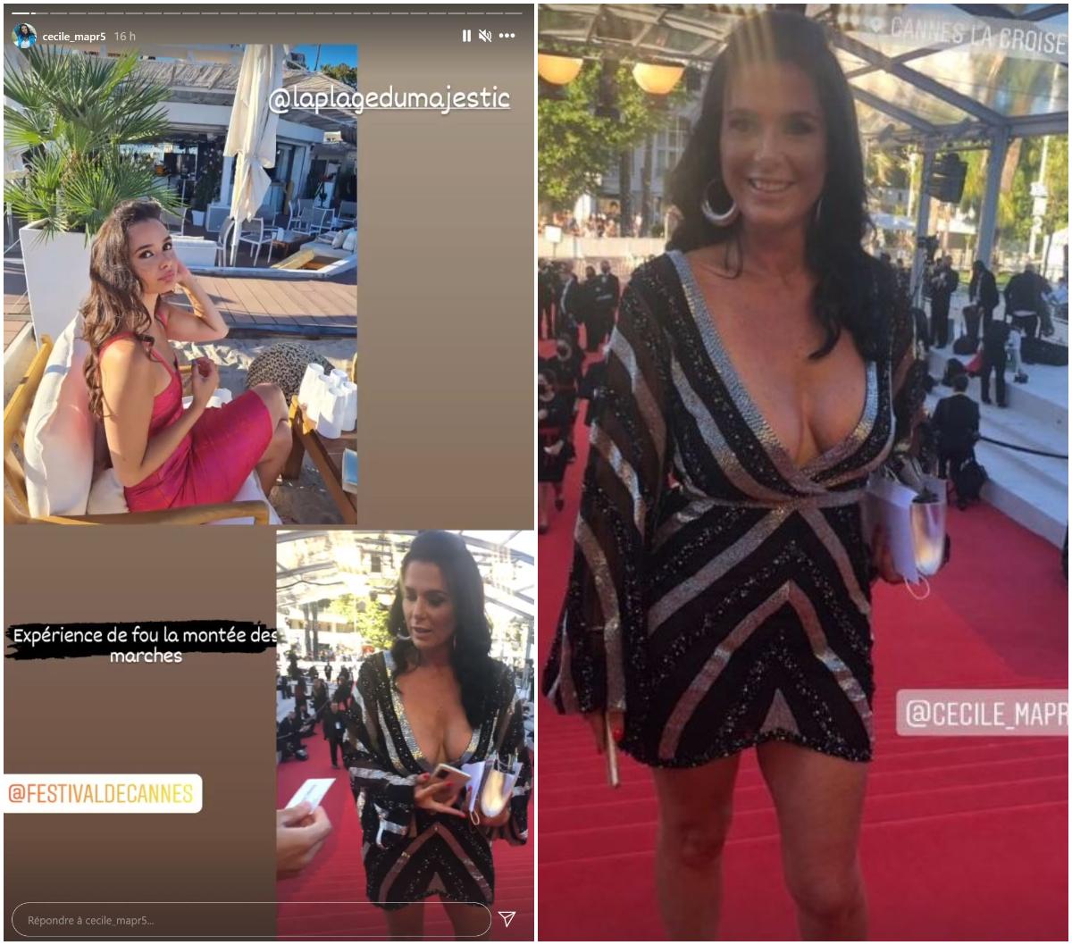 Cécile (MAPR5) au Festival de Cannes : Jugée vulgaire par certains internautes, elle prend la parole !