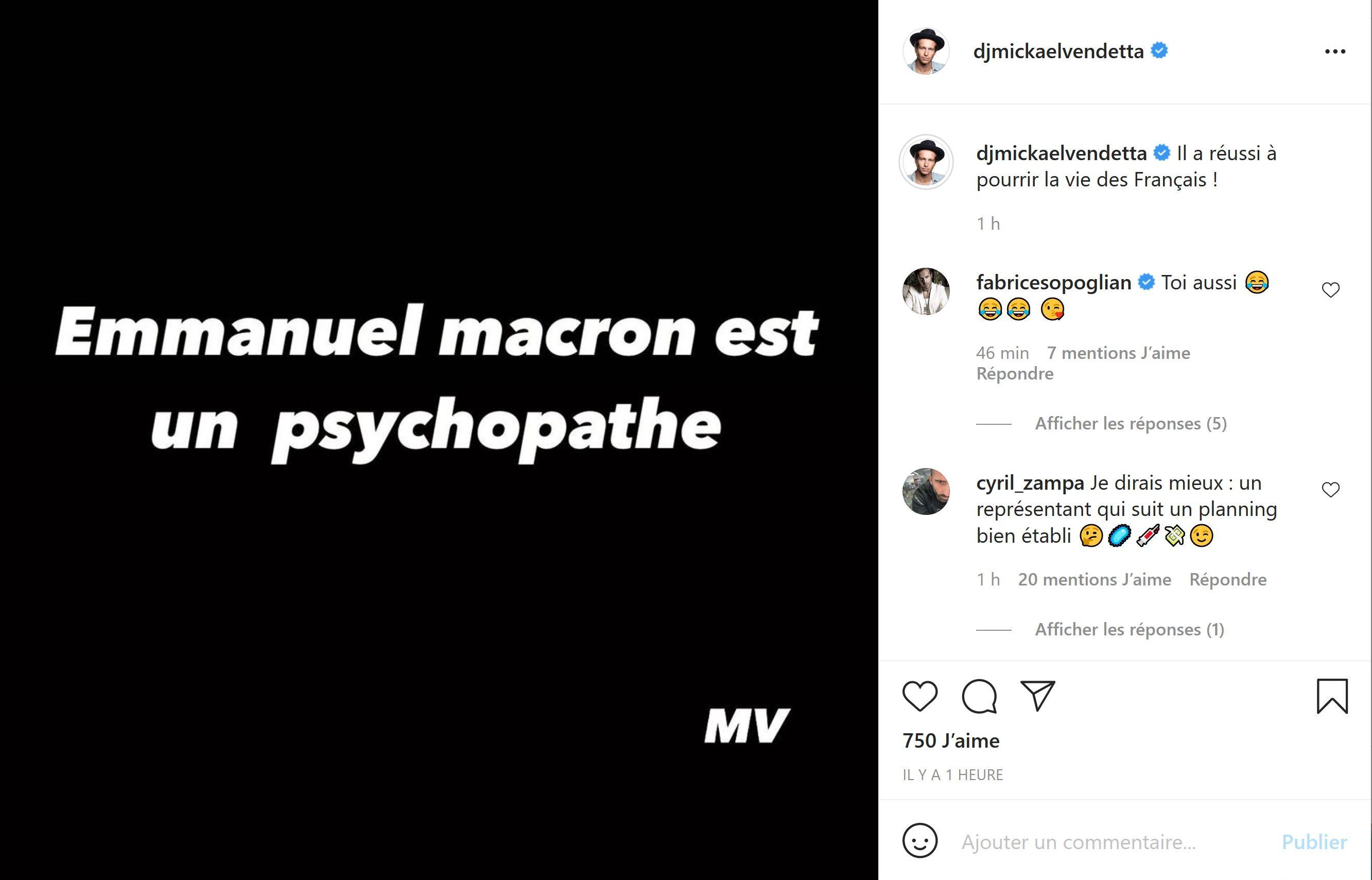 Mickaël Vendetta qualifie Emmanuel Macron de psychopathe, Fabrice Sopoglian intervient !