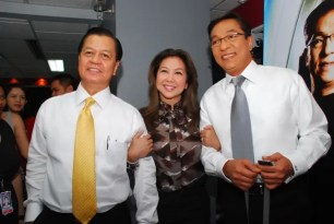 TV Patrol anchors Noli Castro Korina Sanchez Ted Failon at the newsroom