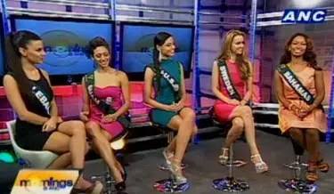 Selected Miss Earth 2012 Contestants Grace ANC Mornings