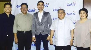 Christian Bautista with Manager and GMA Execs