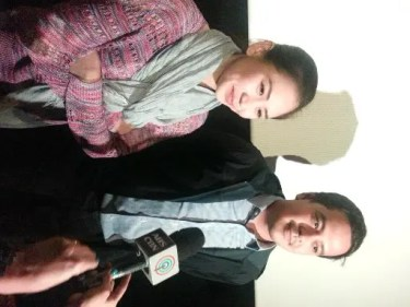 Sarah and John Lloyd during the celebrity screening of It Takes A Man and A Woman_1