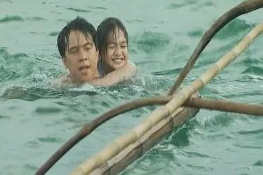 Arjo Atayde and Abby Bautista in 'batang langoy' episode of MMK