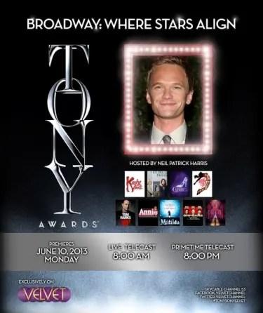 The 67th Tony Awards on Velvet