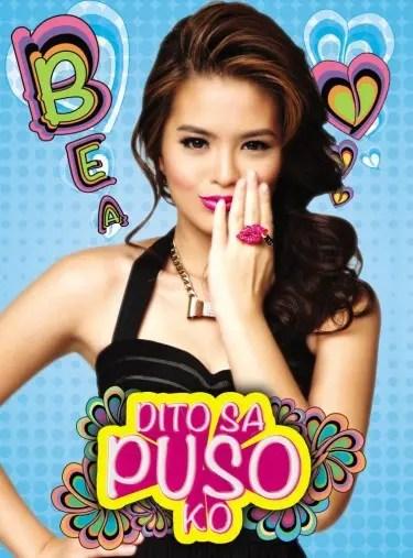 """Bea Binene """"Dito sa Puso Ko"""" album cover courtesy of Polyeast Record"""