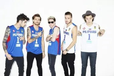 One Direction in SMART Gilas Pilipinas Jerseys   Photo Credit: AKTV Facebook Page
