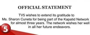 TV5 statement