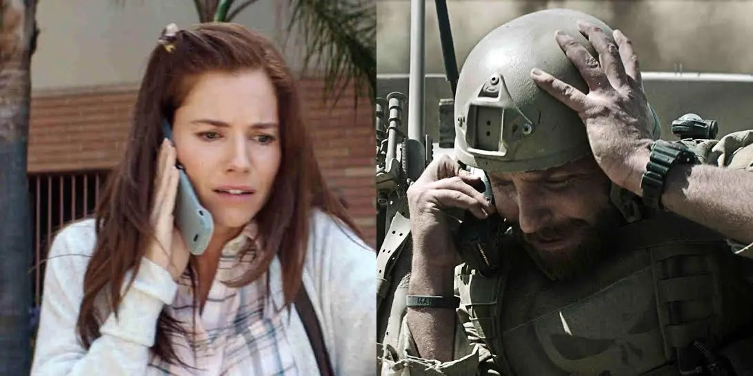Soldier calling wife