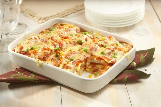 Baked Fish Fillet Pasta using Italian Pasta Sauce