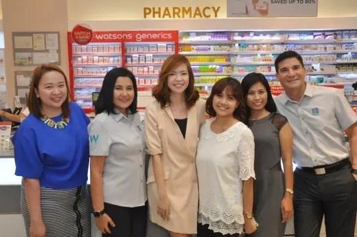 Sai Pascual, Karen Fabres, Krisel Macatangay, Helen Capunong from Watsons with Lorna and Edu