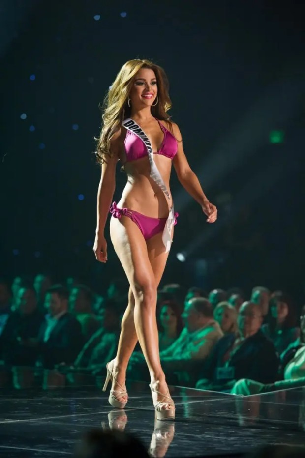 Clarissa Molina, Miss Dominican Republic 2015 competes on stage in Yamamay swimwear featuring footwear by Chinese Laundry during The 2015 MISS UNIVERSE® Preliminary Show at Planet Hollywood Resort & Casino Wednesday, December 16, 2015. The 2015 Miss Universe contestants are touring, filming, rehearsing and preparing to compete for the DIC Crown in Las Vegas. Tune in to the FOX telecast at 7:00 PM ET live/PT tape-delayed on Sunday, Dec. 20, from Planet Hollywood Resort & Casino in Las Vegas to see who will become Miss Universe 2015. HO/The Miss Universe Organization