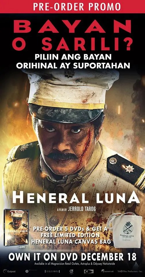 Heneral Luna DVD