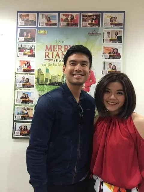 Christian Bautista at the Merry Riana radio Show of Sonora FM.
