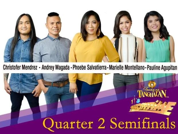 Quarter 2 Semifinalists