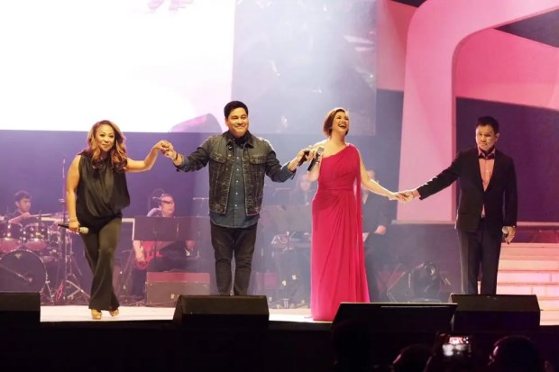 World-class performers came together in one stage. (L-R): Multi-talented music icon Jaya, concert king Martin Nievera, Asia's Songbird Regine Velasquez and the one and only OPM President Ogie Alcasid.