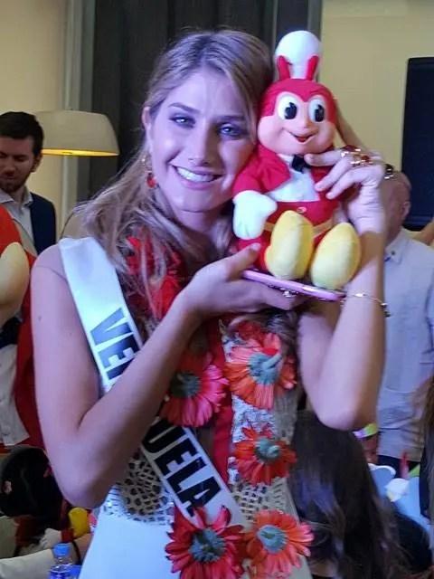 Miss Venezuela with Jollibee